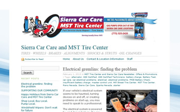 Sierra Car Care Blog Sample Design