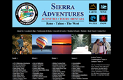 Sierra Adventures Web Site Design Maintained by Mystic Design and Print